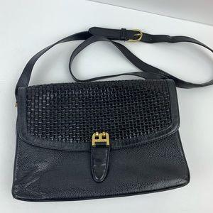 Vintage Bally Leather Weave Crossbody Bag